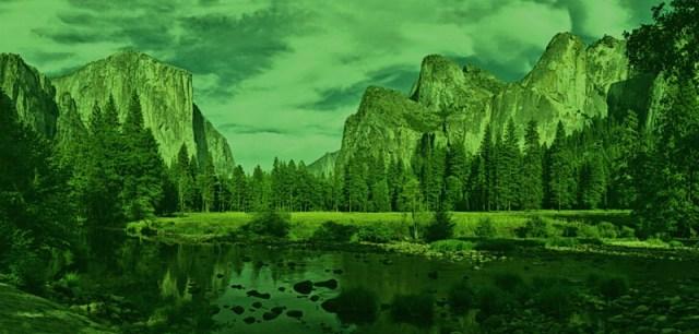 Yosemite Valley View Panorama